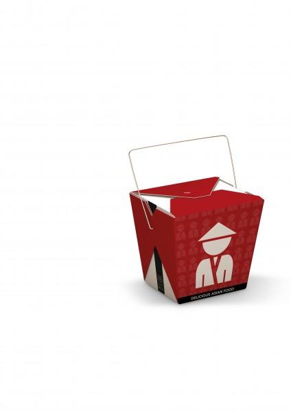 """Faltbox mit Henkel """"Chinese Man"""" 32oz"""