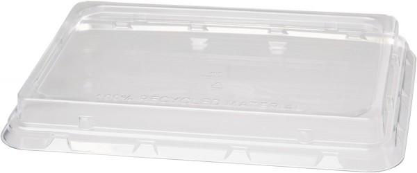rPET-Deckel für Bagasse Boxen eckig