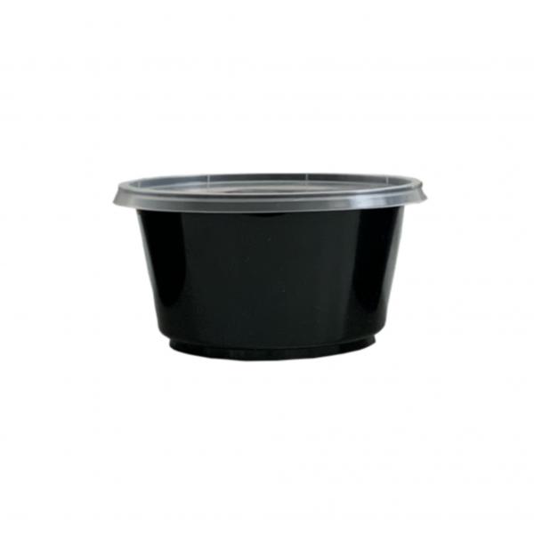 PP-Suppenbecher in schwarz (inkl.Deckel)